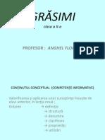 Proiect grasimi-chimie
