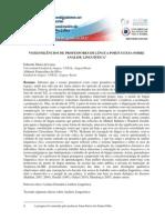 VOZES-SILÊNCIOS DE PROFESSORES DE LÍNGUA PORTUGUESA SOBRE