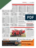 Publicación de las clasificaciones de las ligas Futbolcity en Superdeporte. Miércoles 22 de mayo 2013