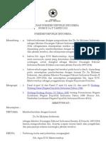 Keputusan Presiden Nomor 56-P Tahun 2010 Tentang Pemberhentian Sri Mulyani