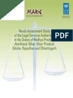 Needs Assessment Study of the Legal Services Authorities in the States of Madhya Pradesh, Jharkhand, Bihar, Uttar Pradesh, Odisha, Rajasthan and Chhattisgarh