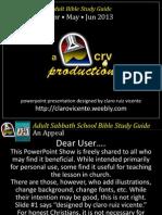 2nd Quarter 2013 Lesson 8 Trusting God's Goodness PowerpointShow