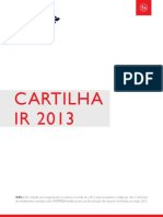 Cartilha IR 2013