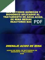 LOS MÉTODOS QUÍMICOS Y BIOGÉNICO APLICADOS AL