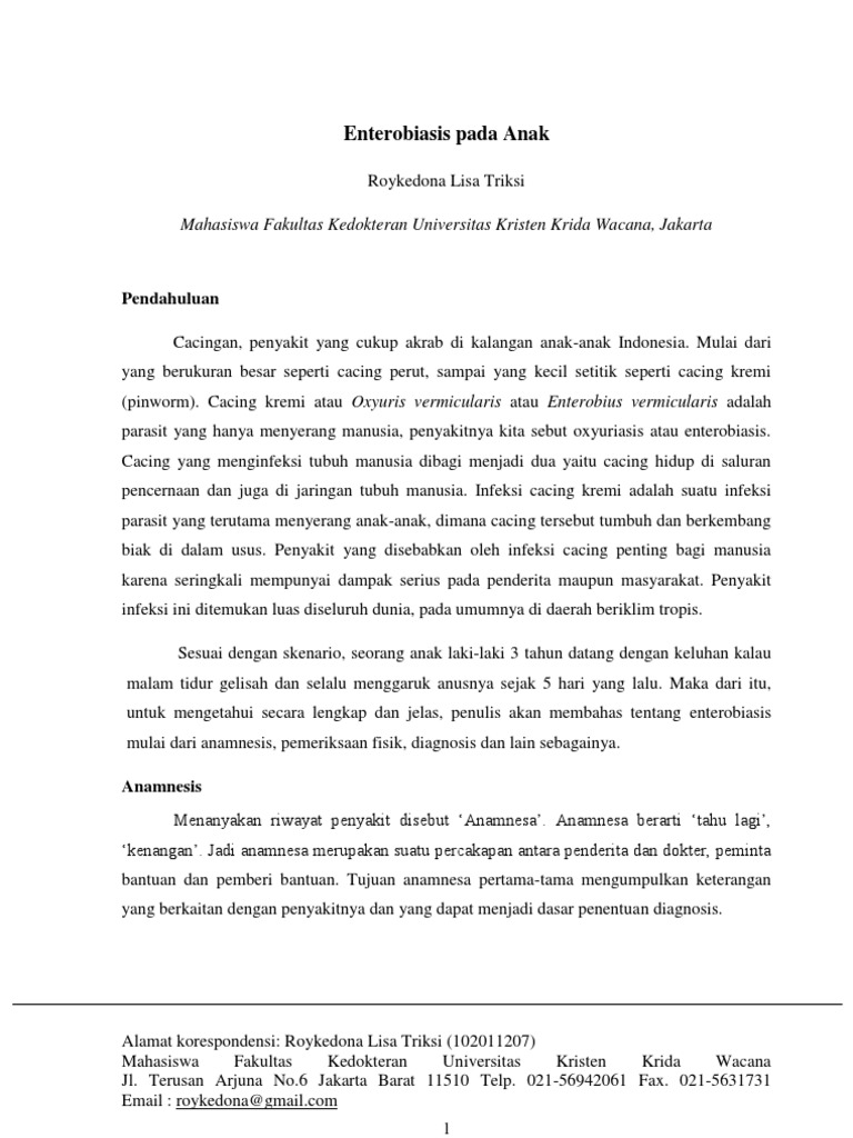 makalah enterobiasis inverted urothelial papilloma p53