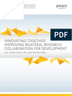 INNOVATING TOGETHER: IMPROVING BILATERAL RESEARCH COLLABORATION FOR DEVELOPMENT
