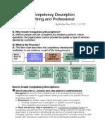 Creating a Competency Description Version 3