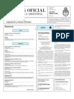 DDJJ de funcionarios públicos - Boletín Oficial 23May2013