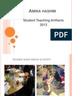 student teaching artifacts