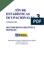 estadísticas ocupacionales 2005