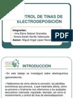 Control de Tinas de electrodeposiciòn PRESENTACIÓN
