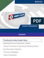 Www.hdfcbank.com Assets PDF Investor Presentation