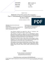 BS en 1015-03 (2004) - Determination of Consistence of Fresh Mortar (by Flow Table)