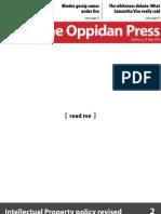 The Oppidan Press. Edition 6. 2013