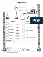 Labyrinth Lord RPG Character Sheet