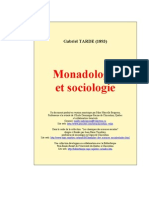 Monadologie Et Sociologie. Tarde