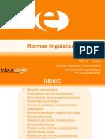 normas lingüísticas