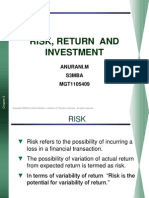 Risk, Return and Investment