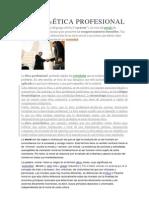 DEFINICIÓN DEÉTICA PROFESIONAL
