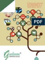 Bilancio Sociale Coop Giardinone 2012
