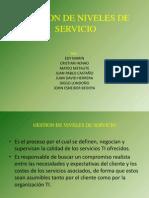 Gestion de Niveles de Servicio