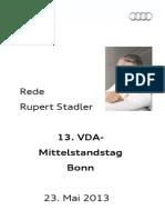 Rupert Stadler - VDA Mittelstandstag