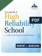 Marzano Becoming a High Reliability School PDF 051613