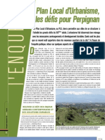 Le Plan Local d039urbanisme Les Defis Pour Perpignan