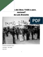 Resumen Del Libro 14250 o Paro Nacional de Luis Brunetto