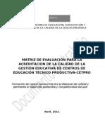 Matriz Acreditacion CETPRO