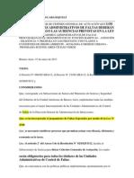RESOLUCIÓN Nº 13-13 CRITERIO GRAL DE ACTUACION