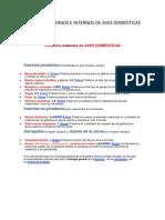 PARÁSITOS EXTERNOS E INTERNOS DE AVES DOMÉSTICAS