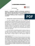 La delincuencia organizada, concepto y tipologías