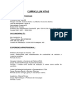 Curriculum Vitae- Cristiano Santos
