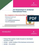 Politcal Risk in Jordanian International Firms