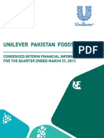 UPFL Condensed Interim Financial Results Q1 2013