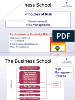 Principles of Risk - Environmental Risk