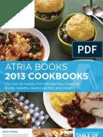 Atria Cookbooks 2013 Brochure