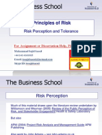 Principles of Risk - Risk Perception