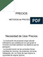 Precios-Metodos de Proyeccion