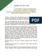 RA 6965 - Revising Taxation on Petroleum Etc..