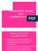Competitive Exams for UGg