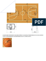 Medidas de Una Cancha y Balon de Baloncesto