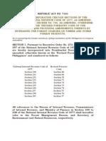 RA 7161- Incorporating Certain NIRC Sections Etc..