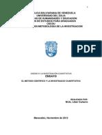 El Metodo Cientifico y La Investigacio Cuantitativa