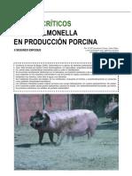 Puntos críticos de la salmonella en producción porcina