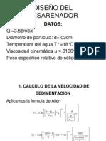 DISEÑO DEL DESARENADOR Y CANAL