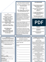 2013 Small Business Week Registration Form and Information brochure
