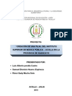Proyecto de Investigacion Acolla 2013