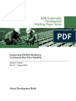 Enhancing ASEAN Resiliency to Extreme Rice Price Volatility
